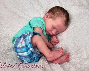 Beautiful Custom * Realborn Sleeping Presley  (LE) * By Denise Pratt Comes with COA and Realborn Box