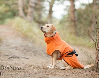 Dog Bathrobe orange - Made to Order - Doggy bathrobe