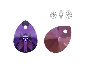 Swarovski Elements, 6128, Mini Pear, Heliotrope, 12mm, Swarovski Pear, Swarovski Pear-shaped, Swarovski crystal, Multicolor crystal