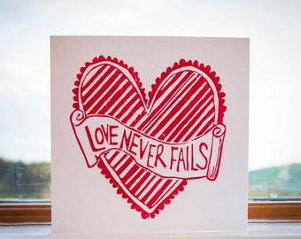 Love Never Fails - Greeting Cards