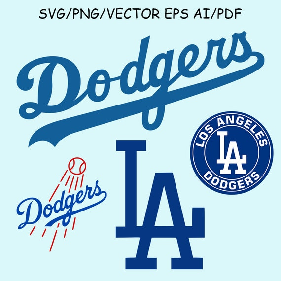 LA Dodgers Logo SVG Vector Clipart Los by SvgVectorClipartShop