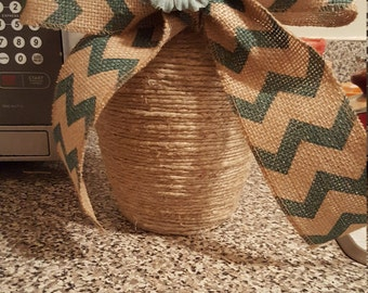 Hemp Wrapped Flower Vase