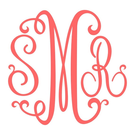 Download Suzanne Curlz Cuttable Monogram Font SVG DXF EPS Silhouette