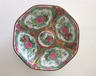 Beautiful Chinoiserie Pedestal Bowl, Vintage, Asian