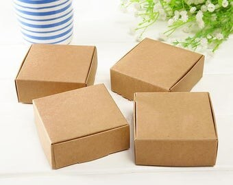 50pc Cardboard Mini Box SIZE 5.5cmx5.5cmx2.5cm DIY Kraft Paper Box Soap Box Jewelry Packing Gift