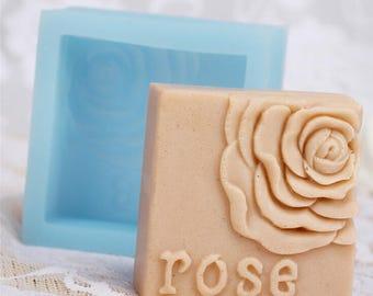 Rose Fondant Chocolate Mold Silicone Soap Mould Cake Mold Resin Mold Cake Baking Tools Silicone Soap Mold