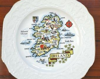 Vintage Ireland Souvenir Plate