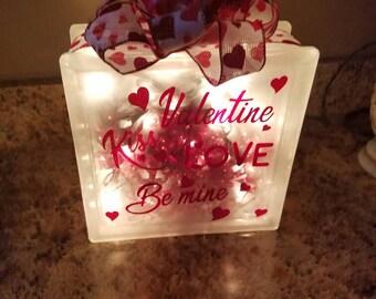Valentine lighted block