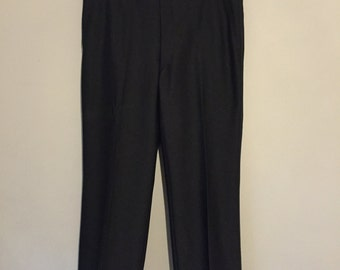 Men's Black Striped Tuxedo Pants 37 x 28