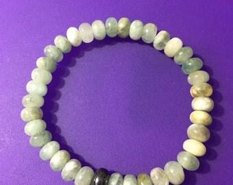 Aquamarine Crystal Beaded Bracelet  (2908)