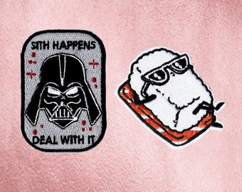 Vader Patch Sushi Patch Patches Iron On Patch Set Appliques Embroidered Patches