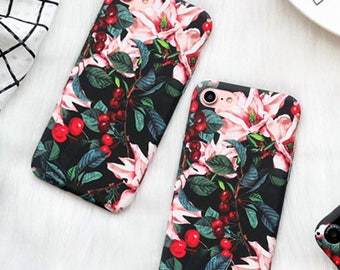 iPhone 6/6s case:  hard case for iphone with flowers and berries