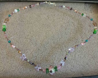 OOAK Multimedia beaded necklace