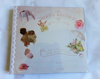 Birth mind shabby chic photo album