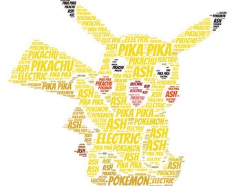 """Pika Pika Pikachu!! Cutest Electric Type Pokemon EVER!! Perfect on this 22"""" Silver Necklace Charm!"""