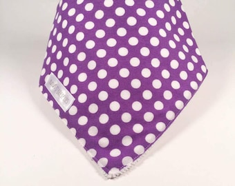 CLEARANCE-bandana bib - white dots