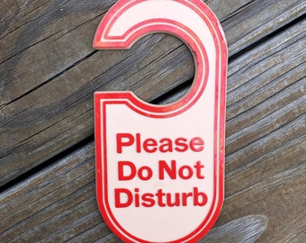 Vintage do not disturb hotel sign
