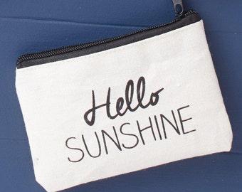Fabric Coin Purse - Hello Sunshine Purse