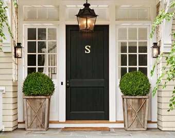 Luxe Monogram DOOR KNOCKER Letter S Solid Brass | Hand Polished | Designed in Sydney Made by Artisans
