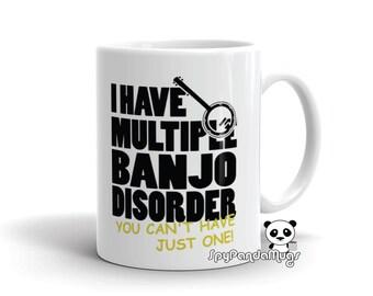 Banjo Player Mug - Multiple Banjo Disorder
