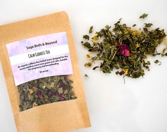 relaxing herbal tea-lemon balm-organic tea- chamomile- loose tea