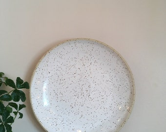 Pottery Plate | Ceramic Plate | Speckled Clay