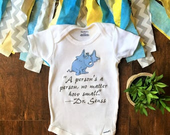 a person's a person no matter how small, dr seuss onesie®, dr seuss baby, onesie®, dr seuss, elephant baby boy, elephant baby girl, clothes