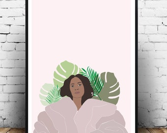 Solange wall art, solange poster, solange beyonce wall art, solange cranes in the sky gift idea, solange home decor. Fashion music poster