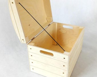 Wooden Storage Chests. Trunk. Memory Box. Storage box. Wooden Box. Storage Chest. Wooden Trunk. Keepsake Chest.  Untreated wood box.