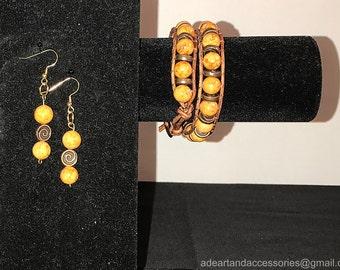 Spiral Earring and Bracelet Set