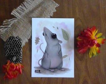 "Nature Ratty 5x7"" Print"