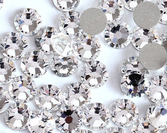 100 pcs Crystal SS3 SS4 SS5 SS6 SS8 SS10 Rhinestones Type Swarovski Nail Art Flat Back Stones Non Hotfix Gems Trendy Style Crystals Zircon