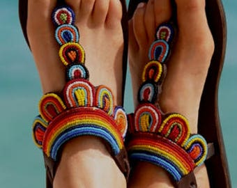 Maasai Beaded Sandal