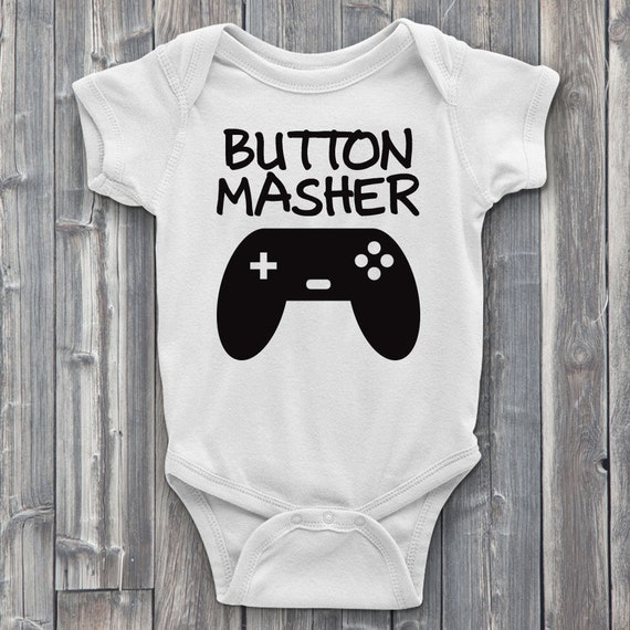 Button Masher 100% Soft Cotton Gamer ONESIE