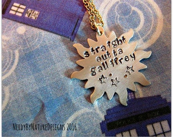 Straight Outta Gallifrey: Doctor Who Necklace