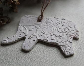 Elephant Christmas ornament, Elephant ornament, Elephant lover, Elephant accent piece, Elephant gift, Elephant family,  Elephant decor