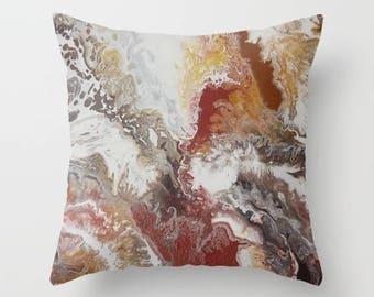 Custom Designed Throw Pillow Cover 16 x 16 - Ignite