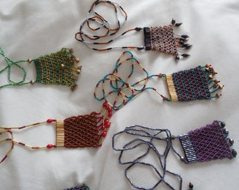 Beaded Net Purse Necklace