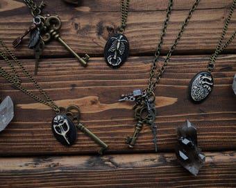 Macabre Steampunk Necklaces
