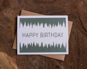 Happy Birthday, Trees Birthday Card Set