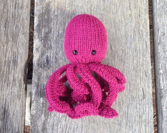 Knitting Pattern Octopus Toy : Octopus knit toy Etsy