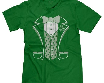 Irish Tuxedo Funny Leprechaun St. Patrick's Day St. Patty's Lucky T-shirt Tee