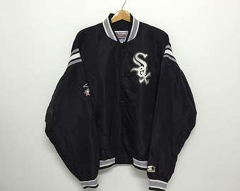 Sale!! Sale!! Vintage Starter White Sox Varsity Jacket Embroidered Logo With Eagle Patches Rare
