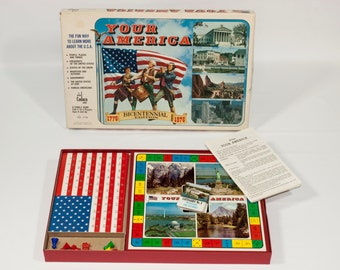 Vintage 1970-1975 Your America Game By Cadaco Board Games - Cadaco Board Game - Your America - Board Game - Complete W/Org. Instructions