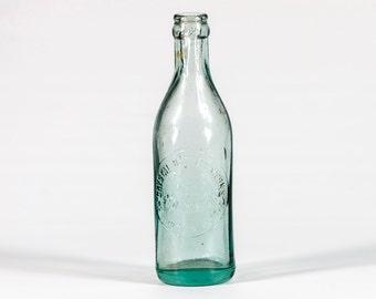 Antique Soda Bottle - Antique Beer Bottle -  1911 - 1915 Crystal Bottling Works Tucson Ariz. - Crystal Bottling Works - Antique Aqua Bottle