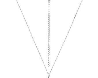 Pyramid chain 925 sterling silver glitter rhinestone bling eye-catcher
