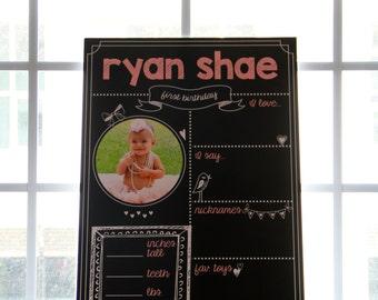 Custom Gender Reveal Board or First Baby Board