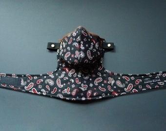 Black Japanese Paisley Mask