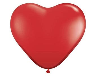 "36"" Latex Large Heart Balloon - RED"