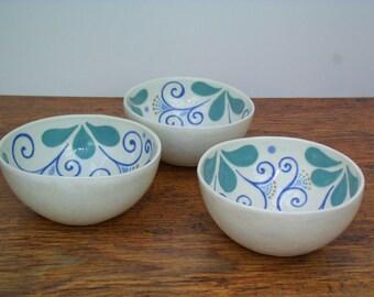 Porcelain Slipware Soup Bowl